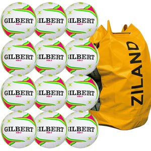 Gilbert APT Training Netball 5 Pack White