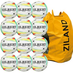 Gilbert Pulse Match Netball 5 Pack Green