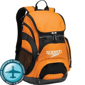 Speedo Teamster Backpack 35 Litre Orange/Black