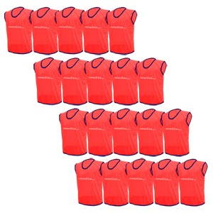Plain Training Bibs 20 Pack Red