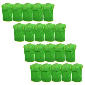 Plain Training Bibs 20 Pack Green