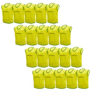 Plain Training Bibs 20 Pack Yellow