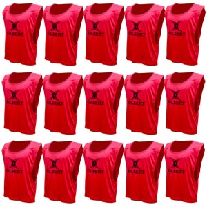 Gilbert Training Bib 15 Pack Red