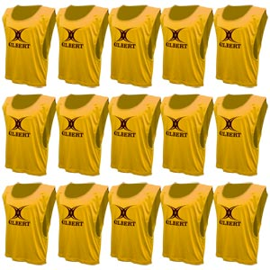 Gilbert Training Bib 15 Pack Yellow