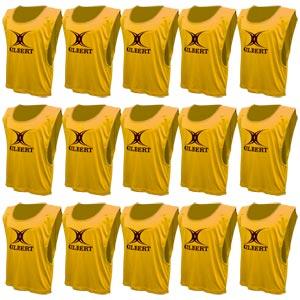 Gilbert Training Bib 15 Pack Yellow