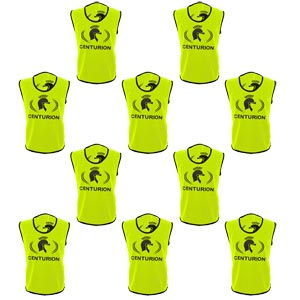 Centurion Hi Visibility Training Bibs 10 Pack Yellow
