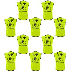Centurion Hi Visibility Training Bibs 10 Pack Yellow