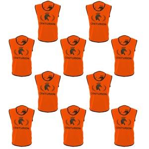 Centurion Hi Visibility Training Bib 10 Pack Orange