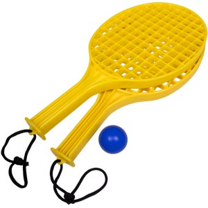 Mini Tennis Plastic Bat Set