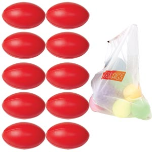 Centurion Foam Rugby Ball 10 Pack