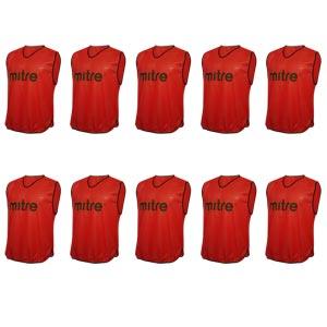 Mitre Pro Training Bib 10 Pack Red