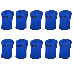Mitre Pro Training Bib 10 Pack Blue