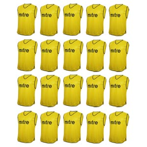 Mitre Pro Training Bib 20 Pack Yellow