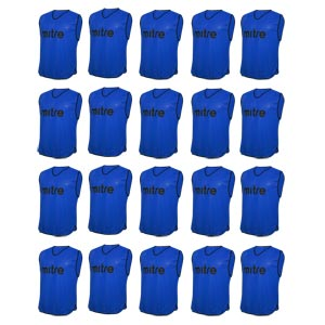 Mitre Pro Training Bib 20 Pack Blue