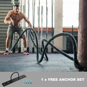Apollo Battle Rope And Anchor Set