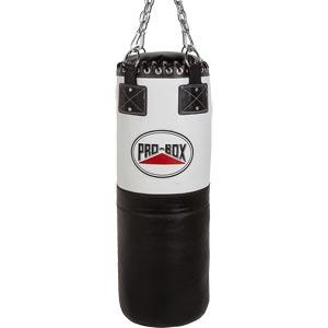 Pro Box Black White 3ft Heavy Leather Punch Bag