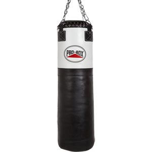 Pro Box Black White 4ft Super Heavy Punch Bag
