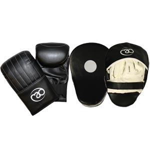 Fitness Mad Synthetic Leather Gloves And Pads Set