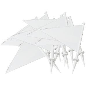 Elders Cricket White Boundary Marker Flags 10 Pack