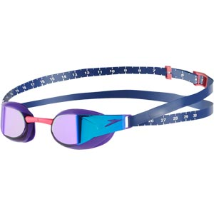 Speedo Fastskin Elite Mirror Swimming Goggles Violet/Blue