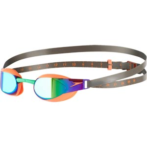 Speedo Fastskin Elite Mirror Swimming Goggles Fluo Orange/Lawn Green