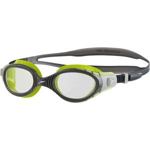 Speedo Futura Biofuse Flexiseal Swimming Goggle Lime/Charcoal/Clear