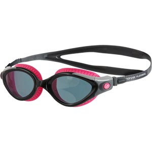 Speedo Futura Biofuse Flexiseal Female Swimming Goggles Pink/Black/Smoke