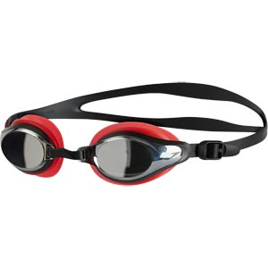 Speedo Mariner Supreme Mirror Swimming Goggles Red/Black/Chrome