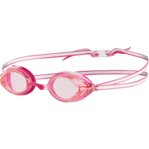 Speedo Junior Vengeance Swimming Goggles White/Ecstatic Pink