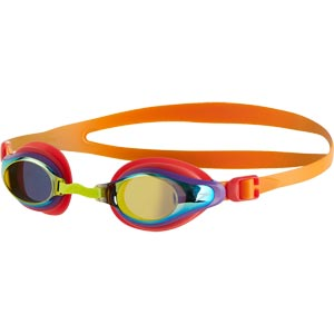 Speedo Junior Mariner Supreme Mirror Swimming Goggles Jaffa/Watermelon/Gold