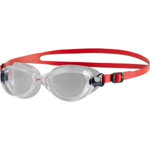 Speedo Junior Futura Classic Swimming Goggles Lava Red/Clear