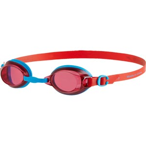 Speedo Junior Jet Swimming Goggles Turquoise/Lava Red