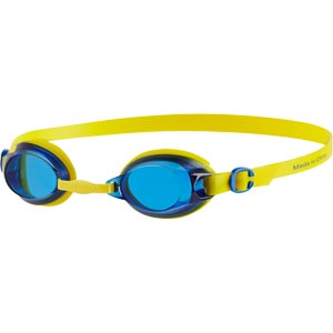 Speedo Junior Jet Swimming Goggles Empire Yellow/Neon Blue