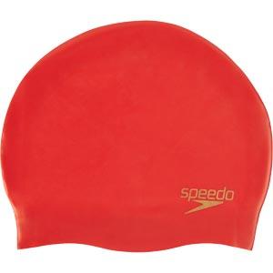 Speedo Senior Silcone Swimming Cap Lava Red