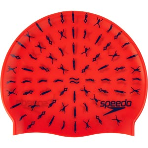 Speedo Junior Slogan Swimming Cap Watermelon/Purple Dawn