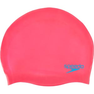 Speedo Junior Silicone Swimming Cap Ecstatic Pink/Japan Blue