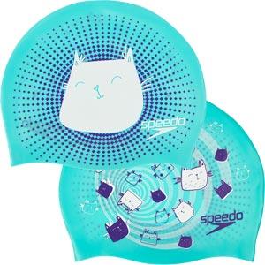 Speedo Junior Reversible Silicone Swimming Cap Spearmint/Violet/White