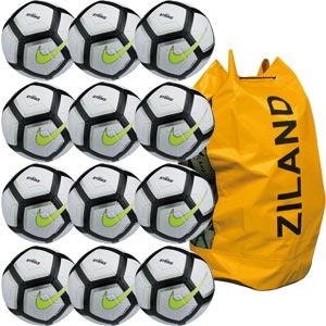 Nike Strike Team Match Football 12 Pack Silver