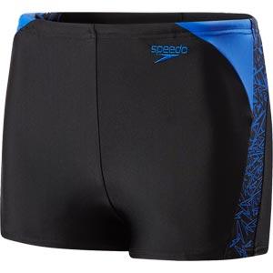 Speedo Boys Boom Splice Aquashort Black/Amparo Blue