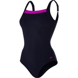 Speedo Contour Renew Swimsuit Navy/Diva