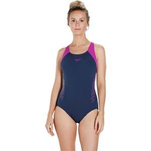 Speedo Boom Splice Racerback Swimsuit Navy/Diva