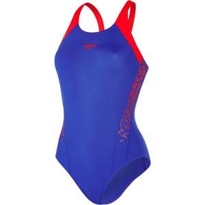 Speedo Boom Splice Muscleback Swimsuit Ultramarine/Lobster