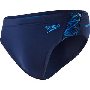 Speedo Mens Boom Splice Brief Navy/Neon Blue