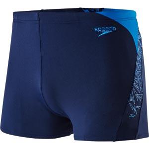 Speedo Mens Boom Splice Aquashort Navy/Neon Blue