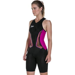 Speedo Fastskin Proton Tri Suit Black/Bright Fuchsia/Siren Red