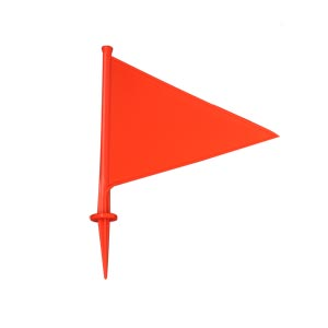 Elders Orange Plastic Marking Flag