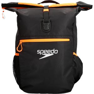 Speedo Team 3 Plus Rucksack Black/Fluo Orange