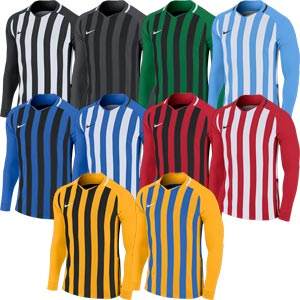 Nike Striped Division III Long Sleeve Senior Football Jersey
