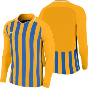 Nike Striped Division III Long Sleeve Senior Football Shirt University Gold/Royal Blue