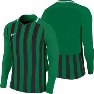 Nike Striped Division III Long Sleeve Senior Football Shirt Pine Green ... 2307e6639